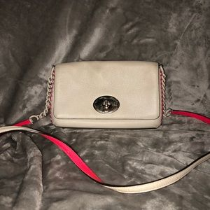 ONE OF A KIND Coach White/Pink Crossbody Clutch